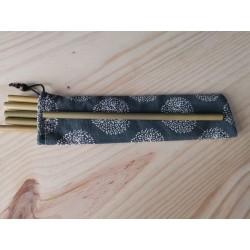 pailles en bambou 23 cm